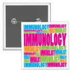 Colorful Immunology Pinback Buttons