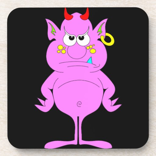 Colorful Imp Drink Coaster