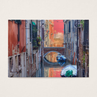 Colorful Impression Of Venice Italy Business Card