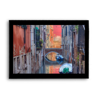 Colorful Impression Of Venice Italy Envelope
