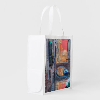 Colorful Impression Of Venice Italy Grocery Bag