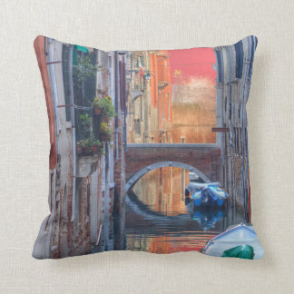 Colorful Impression Of Venice Italy Throw Pillow