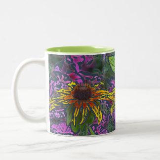 "Colorful ""Impressionistic""BrownEyedSusans Two-Tone Coffee Mug"