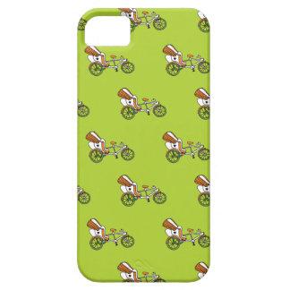 Colorful india rickshaw bike illustration pattern iPhone SE/5/5s case