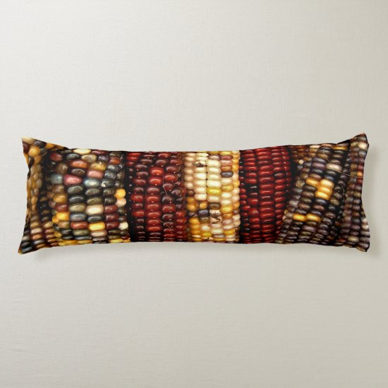 Colorful Indian Corn Kernels Photo Body Pillow