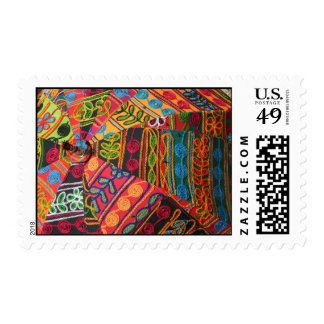 Colorful Indian Embroidery Stamp