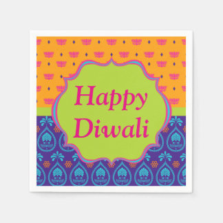 Colorful Indian Pattern Design Diwali Celebration Napkin
