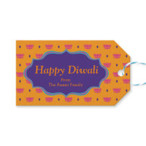 Colorful Indian Pattern Diwali Gift Tags