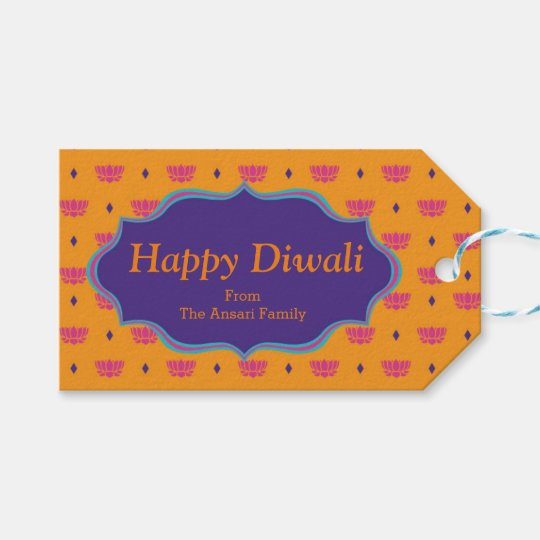 Colorful Indian Pattern Diwali Gift Tags Zazzle Com