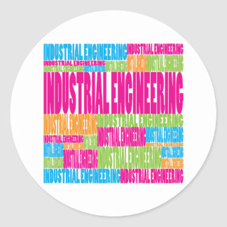 Colorful Industrial Engineering Classic Round Sticker