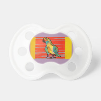 Colorful Infant Pacifier with Cute Parrot Design