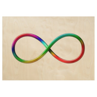 Colorful Infinity Symbol | Girly Gifts Wood Poster