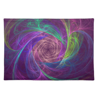 Colorful Infinity With Pink And Purple Cloth Place Mat