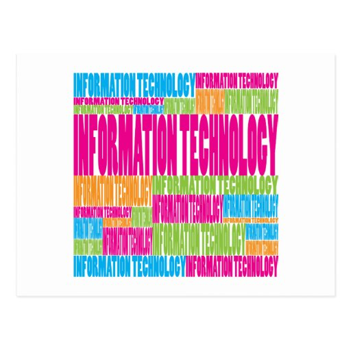 Colorful Information Technology Postcard