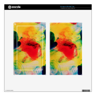 Colorful Ink Swirls Decals For Kindle Fire