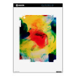 Colorful Ink Swirls iPad 2 Decals