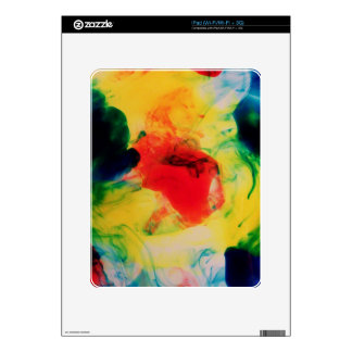 Colorful Ink Swirls Skin For The iPad