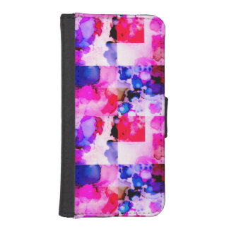 Colorful Inky Pink Wallet Case for iPhone 5/5s iPhone 5 Wallet Case