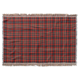 Colorful Innes Clan Scottish Plaid Throw