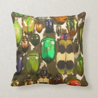 Colorful Insects Beetles and Bugs Throw Pillow
