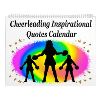 COLORFUL INSPIRATIONAL QUOTE CHEERLEADING CALENDAR