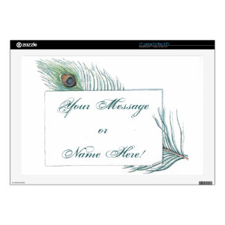 Colorful Inspirational Vintage Peacock Feather Laptop Skins