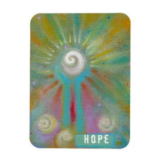 Colorful inspirational whimsical original painting magnet