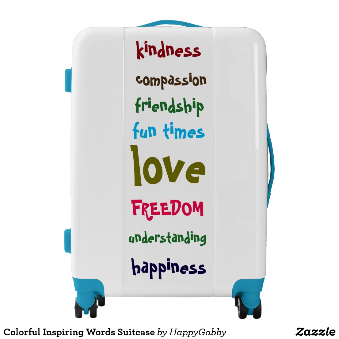 Inspiring Words Suitcase