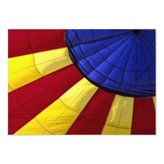 Colorful Interior design of inflated hot air ballo Invite
