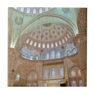 Colorful interior domed ceiling of Blue Mosque Ceramic Tile