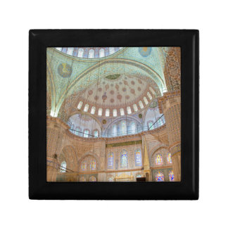 Colorful interior domed ceiling of Blue Mosque Jewelry Box