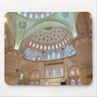 Colorful interior domed ceiling of Blue Mosque Mouse Pad