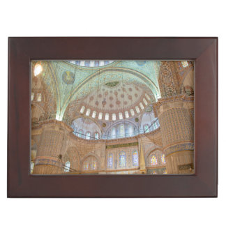 Colorful interior domed ceiling of Blue Mosque Memory Box