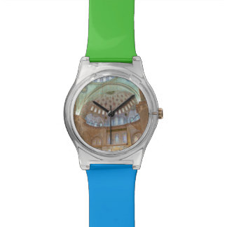 Colorful interior domed ceiling of Blue Mosque Wrist Watch
