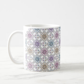 Colorful interlocking bicycle, wow! coffee mug