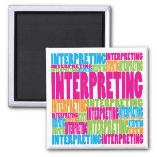 Colorful Interpreting 2 Inch Square Magnet