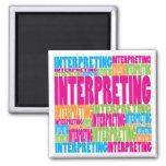 Colorful Interpreting Refrigerator Magnet