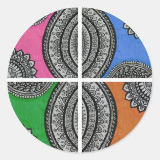 Colorful Intricate design Classic Round Sticker