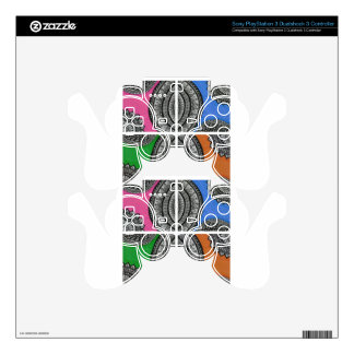 Colorful Intricate design PS3 Controller Decal