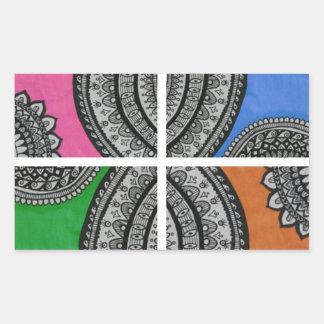 Colorful Intricate design Rectangular Sticker