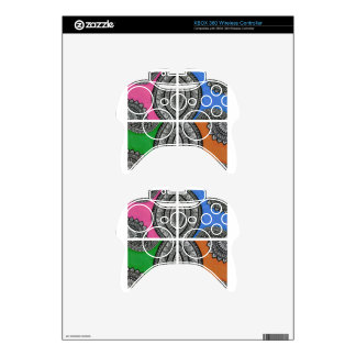 Colorful Intricate design Xbox 360 Controller Skin