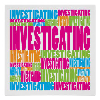Colorful Investigating Poster