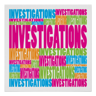Colorful Investigations Poster