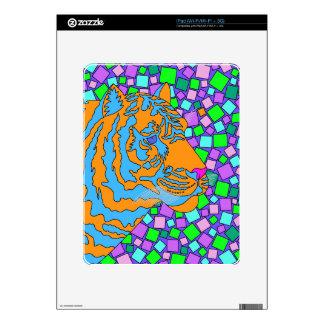 Colorful iPad Skin Tropical Tiger