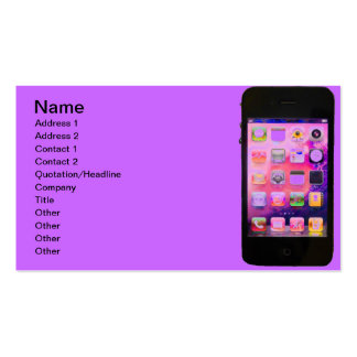 Colorful iPhone Double-Sided Standard Business Cards (Pack Of 100)