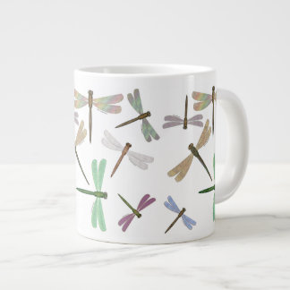 Colorful Iridescent Dragonflies Extra Large Mugs