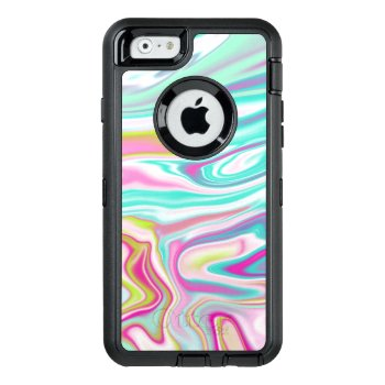 Colorful Iridescent Marble Design Otterbox Defender Iphone Case by HeyCase at Zazzle