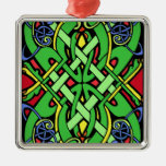 Colorful Irish Celtic Knot Christmas Tree Ornament