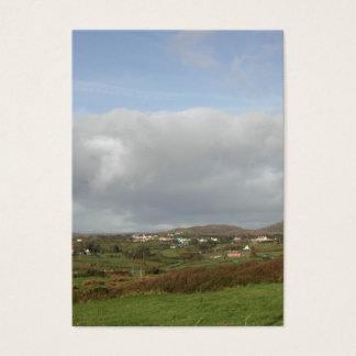 Colorful Irish Village Scene. Business Card