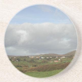 Colorful Irish Village Scene. Coaster